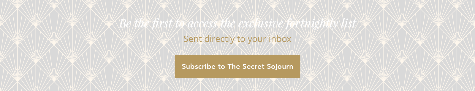 Subscribe to The Secret Sojourn
